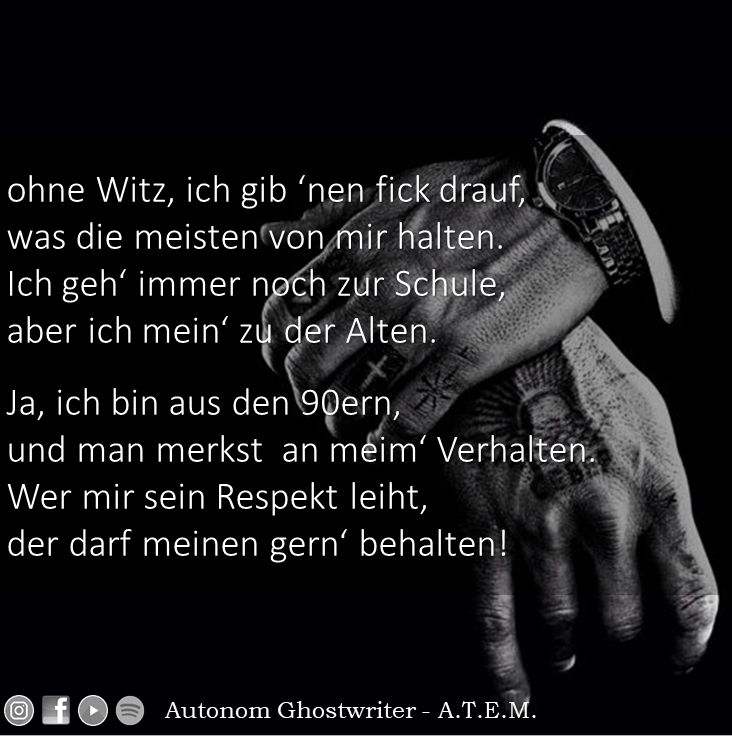 Deutsch Rap Text
